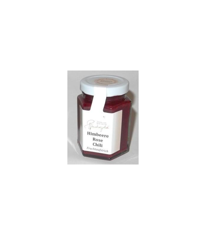Himbeere-Rose-Chili Fruchtaufstrich