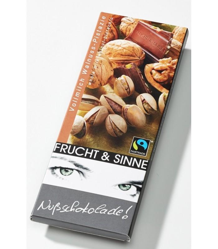 Fruchtschokolade Vollmilch Walnuss-Pistazien